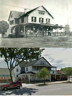 Joseph Pokorney's 4 Mile House 1902 and Today. The original location of this… Baltimore City, Baltimore Maryland, Somewhere In Time, Present Day, Vintage Photographs, Old Photos, The Neighbourhood, Mansions, Architecture