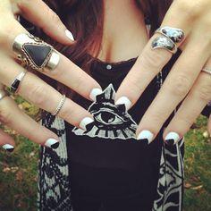 .@Alyssa Zynda | Illuminati #illuminati #nails #trianglenails