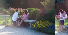 Mike proposed to Michelle at Lake Harriet, which is the location that both her parents and grandparents got engaged! He proposed in the rose gardens (which were in full bloom) and had his best friend hiding behind the roses to photograph our special moment. Bravo Mike!!! Sounds like the perfect proposal!