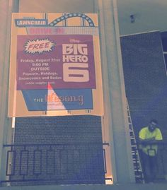 Go big with Mesh Banners, like this eSigns customer's banner for a Drive-In Movie Theater!
