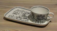 Arabia | EMILIA  TV-setti | Raija Uosikkinen Tablewares, Vintage Dishes, Metallica, Finland, Tea Cups, Art Deco, Antiques, Glass, Design