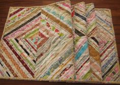 Handmade Quilted Table Runner from Selvages by PeppersAttic