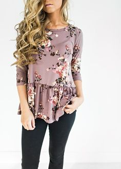 Amethyst Melanie Peplum, ootd, style, womens fashion, fashion, sweater, cardigan, fall fashion, winter fashion, blonde hair, makeup, hair, floral top