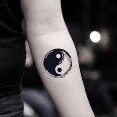 tattoos - Bold Yin Yang Temporary Tattoo Sticker (Set of Tattoos Arm Mann, Fake Tattoos, Arm Tattoos For Guys, Unique Tattoos, Body Art Tattoos, New Tattoos, Small Tattoos, Sleeve Tattoos, White Tattoos