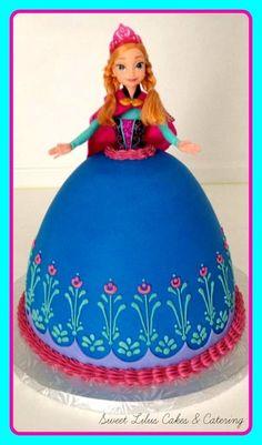 Elsa Frozen Dolly Varden Cake Elsa Dolly Varden cake Pinterest