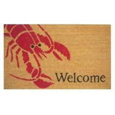 "Lobster 18""x30"" Coir with Vinyl Backing Doormat $19.99...I have to get this for our Lobster Bake  :)"