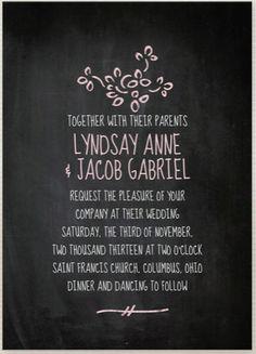 Chalkboard Wedding Stationery — Wedding Ideas, Wedding Trends, and Wedding Galleries