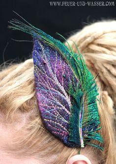 Handmade felt head piece in many colors  Felted by FeuerUndWasser