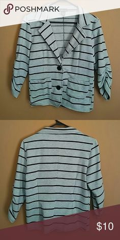 H&M Cardigan This is an adorable black and gray 3 quarter sleeve cardigan that can make your outfit pop! It is a size Large. I have never once worn this, just been sitting in my closet! Make me an offer! ??? Jackets & Coats
