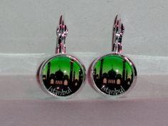 Ohrringe - Ohrringe Istanbul Skyline Schmuck Ohrschmuck Damen - ein Designerstück von ausgefallene-Ohrringe bei DaWanda
