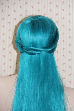 Aquamarine Mermaid Wig by honeysageandcitrus on Etsy