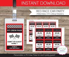 Race Car Party INSTANT DOWNLOAD full Printable von SIMONEmadeit