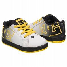 e1c4dad4 Athletics DC Shoes Kids' Court Graffik Infant Black/White/Yellow  FamousFootwear.com
