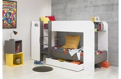 Ideal for the energetic boys in your home, our boys bunk bed range will create a fun and exciting bedroom environment whilst still saving space. Great for sharing a room or sleepovers.
