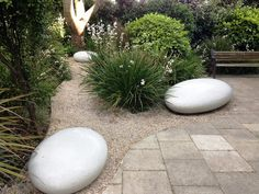 Image result for pebble garden seat