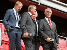 Liverpool legends Kenny Dalglish (centre) and Ian Rush (right) also visited the new stand