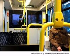 Who is that on the bus – Is that robot man taking on the morning commute?