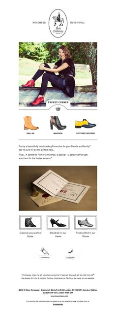 Shoe Embassy newsletter made with MailerLite