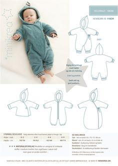 Babymode - Schnittmuster ❤ Baby Winter Overall Anzug Minikrea - ein Designerstück von Villa-Stoff bei DaWanda