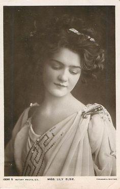 Miss Lily Elsie Postcard x