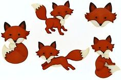 "Amazon.com: Fancy & Decorative {Assorted Sizes w/ 2mm Back Hole} 5 Pack of ""Shank"" Sewing & Craft Buttons Made of Acrylic Resin w/ Novelty Classic Playful Woodland Creature Fox Design {Orange, Black, & White}"