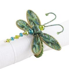 Dragonfly Napkin Ring - Bought these for a wedding gift recently, with placemats and napkins.  SO FUN!