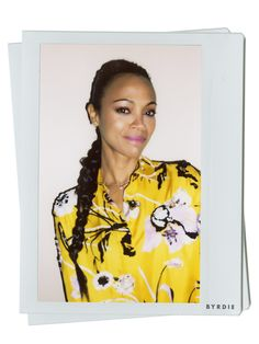 Zoe Saldana on Putting Rum in Her Hair and the Secret to Perfect Skin via @ByrdieBeauty