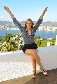 Maria Sharapova Photos - Maria Sharapova enjoys her free time in Acapulco while in town for the Abierto Mexicano Telcel Tennis Tournament on February 2015 in Acapulco, Mexico. - Tennis Star Maria Sharapova Sightseeing In Acapulco, Mexico Maria Sharapova Hot, Sharapova Tennis, Maria Sarapova, Tennis Players Female, Tennis Stars, Athletic Women, Sport Girl, Sports Women, Sexy Legs