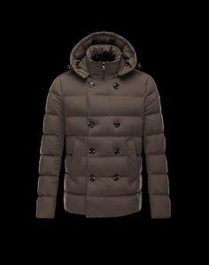 Moncler Loirac Men Mid-Length Detachable Hood Down Jacket Coffee 2014 For  Sale 77fa9a0a454