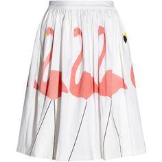 Hale printed stretch-cotton skirt