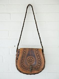 Leather vintage hobo bag