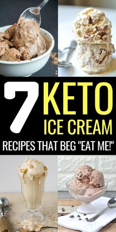 7 Easy & Delicious Keto Ice Cream Recipes For You Keto recipes Low Carb Ice Cream, Coconut Ice Cream, Coconut Milk, Almond Milk, Almond Recipes, Keto Recipes, Dessert Recipes, Diabetic Recipes, Low Carb Sweets