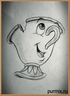 Comment dessiner une puce de Beauty and the Beast Best Picture For art dessin abstrait For Your Tast Disney Character Drawings, Disney Drawings Sketches, Cute Disney Drawings, Art Drawings Sketches Simple, Pencil Art Drawings, Easy Drawings, Drawing Disney, Drawings Of Disney Characters, Belle Drawing