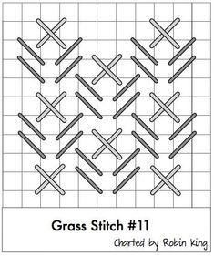 always looking for a good grass stitch and here it is Bargello Needlepoint, Needlepoint Stitches, Needlepoint Canvases, Needlework, Cross Stitching, Cross Stitch Embroidery, Cross Stitch Patterns, Plastic Canvas Stitches, Plastic Canvas Patterns