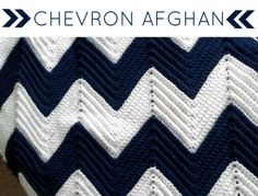 Brett and Courtney: A Gift of Love: Chevron Afghan