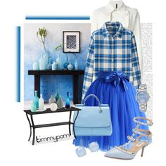 #flannel #flannelshirt #skirts #tulleskirt #blue