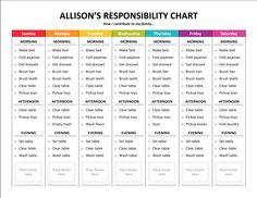 Responsibility Chart - Sample