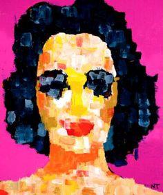 "Saatchi Art Artist Neal Turner; Painting, ""Elizabeth Taylor Pixels"" #art"