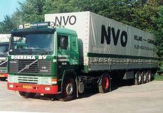 Volvo F 12 III 4x2 met huifoplegger van Gebr Boerema te Uithuizermeeden