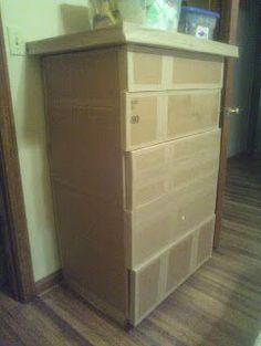 Mamma Bears Den: Cardboard Dresser