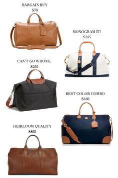 Travel bags at every price.