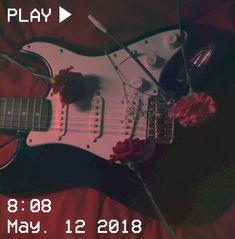 M O O N V E I N S 1 0 1     #vhs #aesthetic #red #grunge #roses #flowers #guitar #black #white