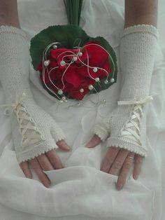 Knitted bridal fingerless gloves, bridal gloves, bridal mittens, ivory bridal fingerless gloves, wedding fingerless gloves, wedding gloves