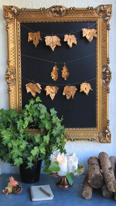 DIY Fall in love garland autumn - fall - gold - letters