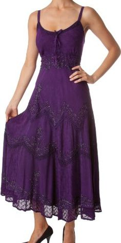 AA4012  Stonewashed Rayon Embroidered Adjustable Spaghetti Straps Long Dress  Various Colors  Sizes   PurpleLXL *** Read more at the image link. (This is an affiliate link) Dark Purple Bridesmaid Dresses, Purple Dress, Mode Purple, Purple Fashion, Spring Fashion, Shades Of Purple, Deep Purple, Evening Dresses, Long Dresses