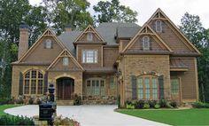 Sims House Plans, Dream House Plans, Family Homes, Home And Family, Dream Home Design, House Design, Interior Balcony, Porch Fireplace, Balcony Doors