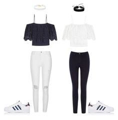 """""""MIX'n MATCH"""" by faseeha-noor ❤ liked on Polyvore featuring Ganni, River Island, Warehouse, adidas, Vanessa Mooney and Simons"""