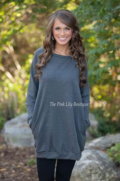 USE DISCOUNT CODE REPAMIE10 TO SAVE!   Oversized Pocket Sweater Charcoal