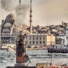 Istanbul ve çay -İstanbul and Turkish tea