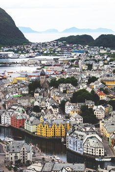colorful buildings in Norway